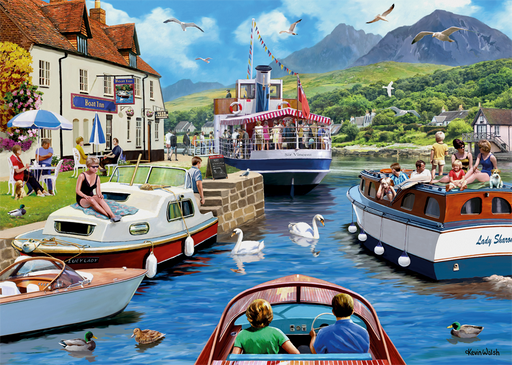 A Day on the River 1000 Piece Jigsaw Puzzle - All Jigsaw Puzzles