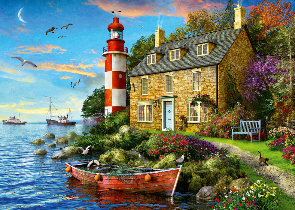 The Lighthouse Keeper's Cottage 1000 Piece Jigsaw Puzzle - All Jigsaw Puzzles