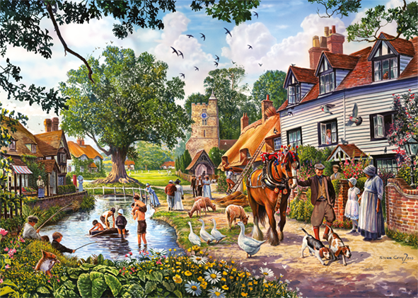 A Beautiful Summer's Day 2 x 1000 Piece Jigsaw Puzzle - All Jigsaw Puzzles