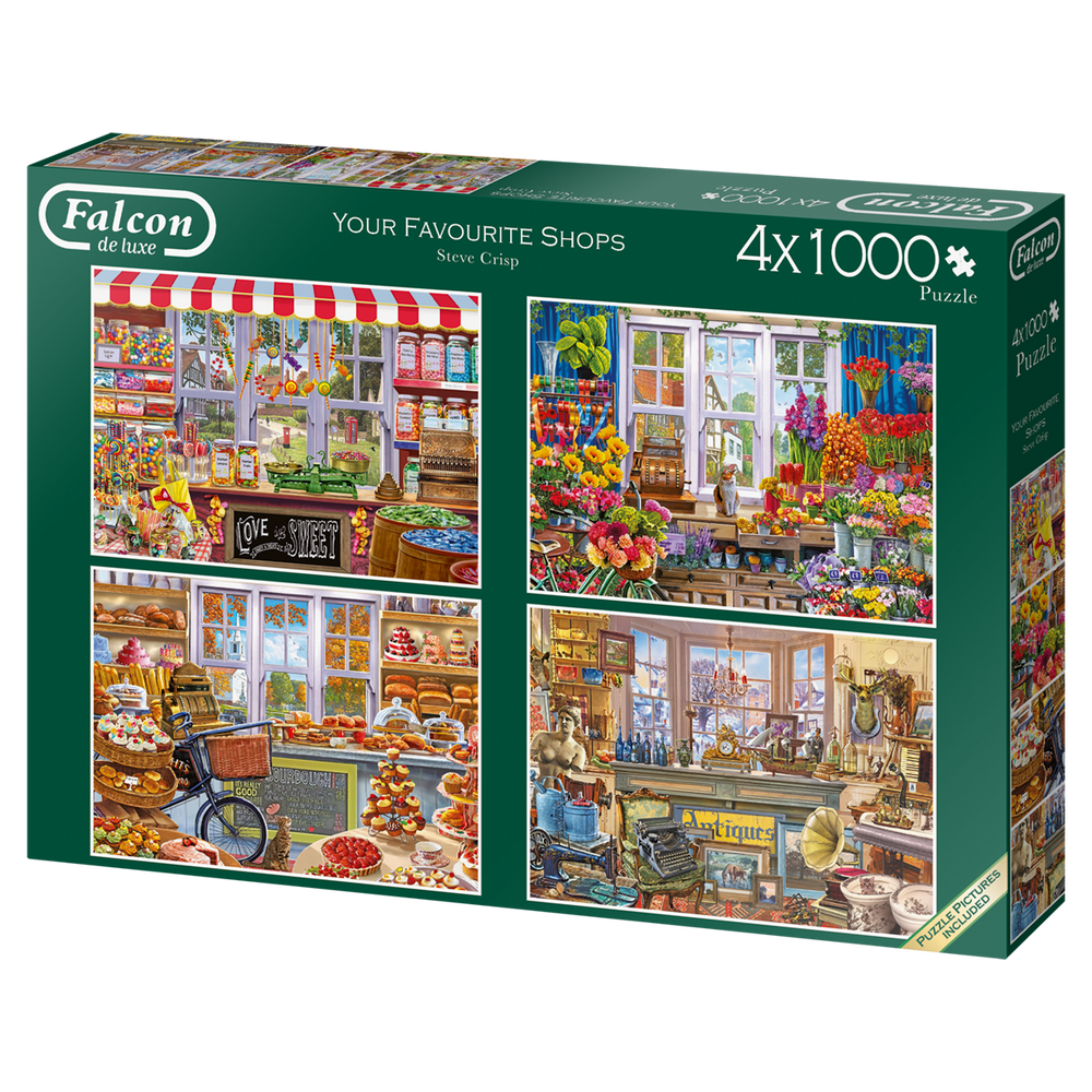 Your Favourite Shops 4 x 1000 Piece Jigsaw Puzzle - All Jigsaw Puzzles