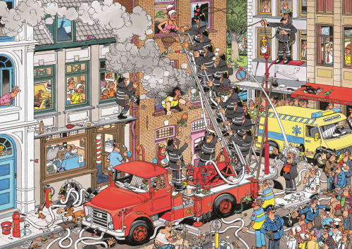 Jan van Haasteren Fire! 500 Piece Jigsaw Puzzle