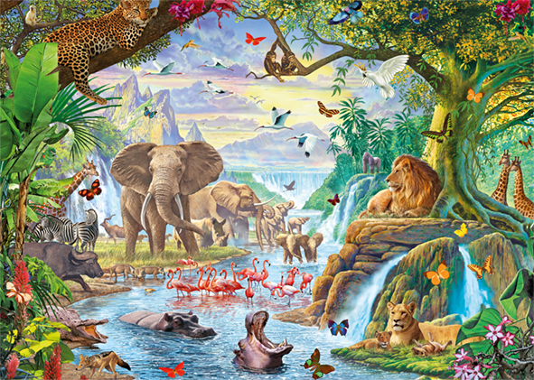 Jungle Lake 500XL Piece Jigsaw Puzzle - All Jigsaw Puzzles