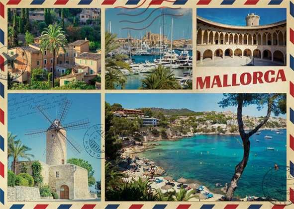 Greetings from Mallorca 1000 Piece Jigsaw Puzzle - All Jigsaw Puzzles