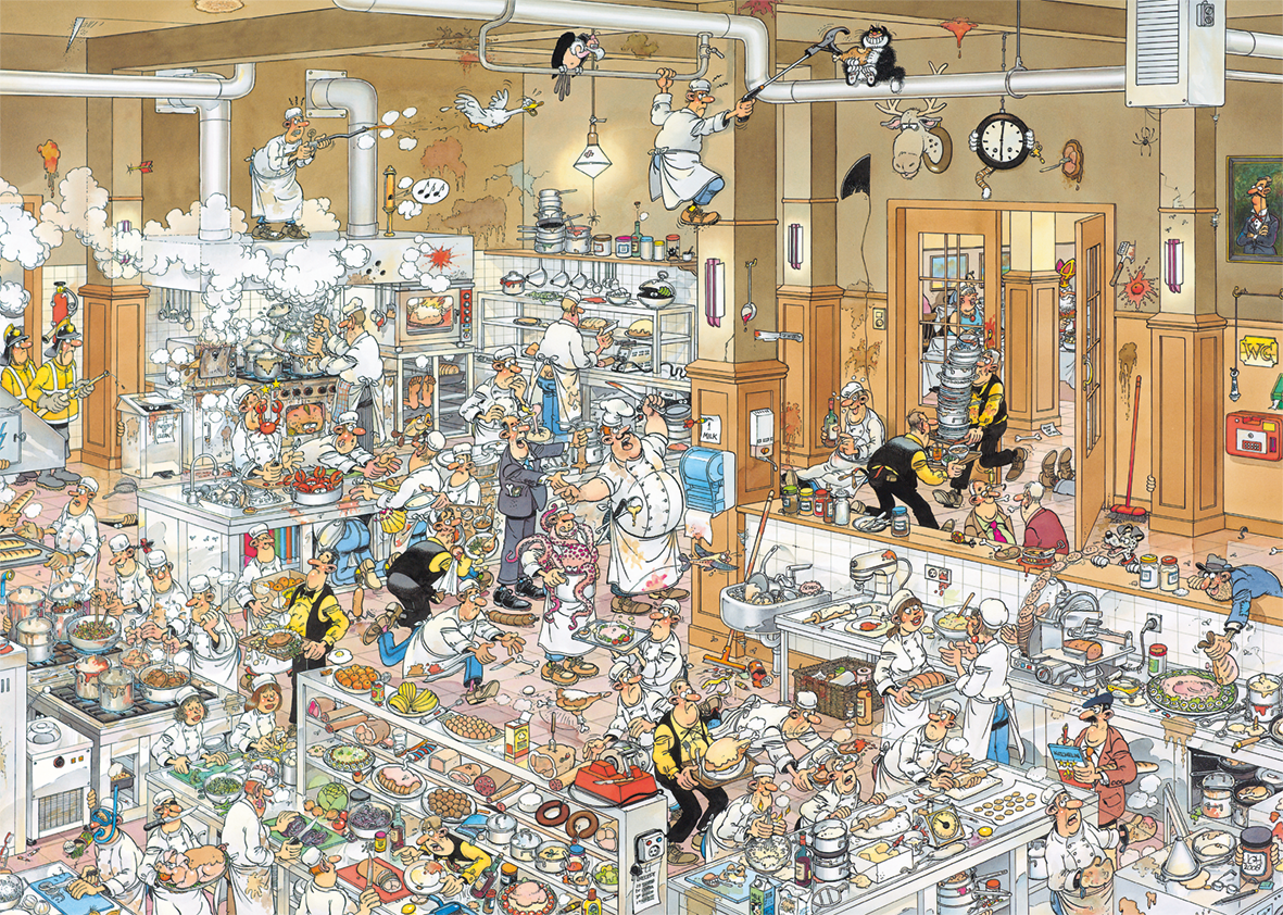 Jan van Haasteren, The Kitchen 500XL Jigsaw Puzzle - All Jigsaw Puzzles