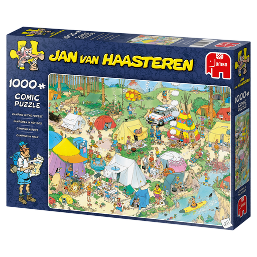 Jan van Haasteren Camping in the Forest 1000 Piece Jigsaw Puzzle - All Jigsaw Puzzles