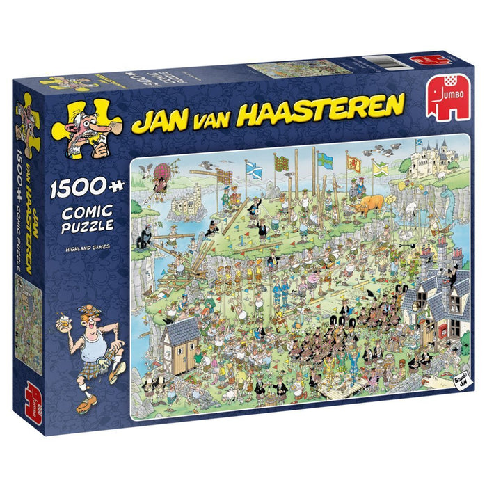 Jan van Haasteren - Highland Games 1500 Piece Jigsaw Puzzle - All Jigsaw Puzzles