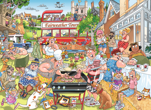 Wasgij Mystery 15 Typical British BBQ 1000 Piece Jigsaw Puzzle - All Jigsaw Puzzles