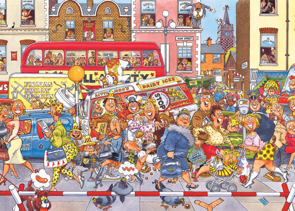 Wasgij Retro Original 3: Full Monty Fever! 1000 Piece Jigsaw Puzzle - All Jigsaw Puzzles