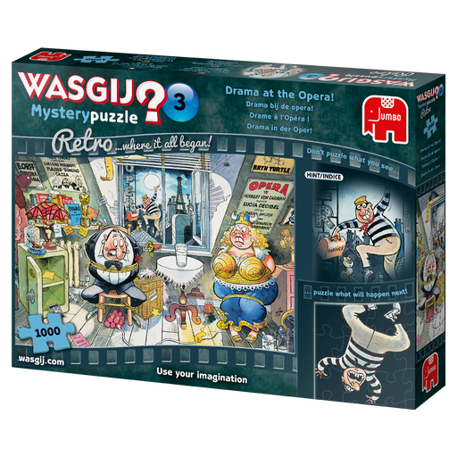 Wasgij Retro Mystery 3 Drama at the Opera! 1000 Piece Jigsaw Puzzle - All Jigsaw Puzzles