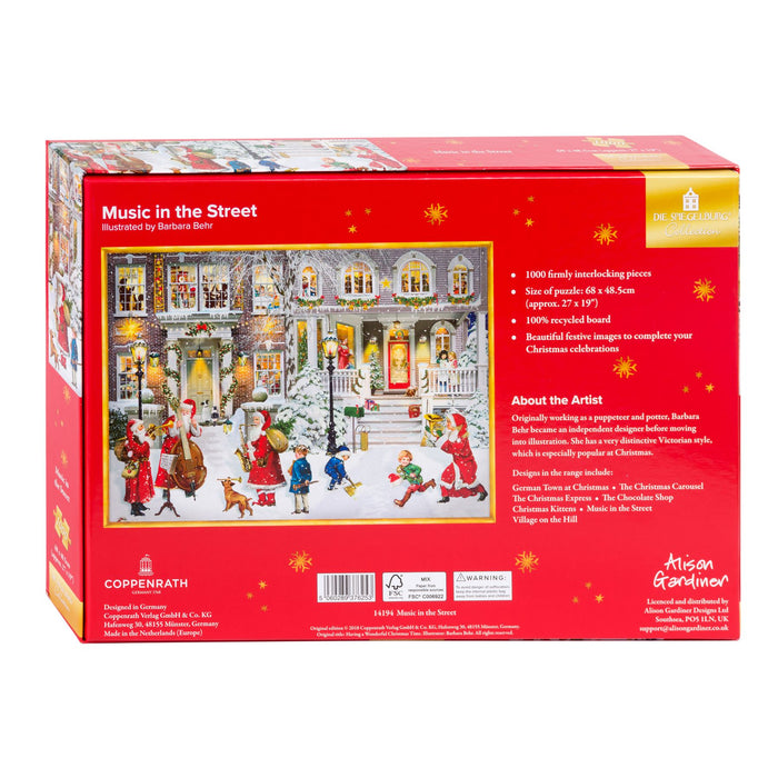 Music in the Street - Coppenrath 1000 Piece Jigsaw Puzzle back