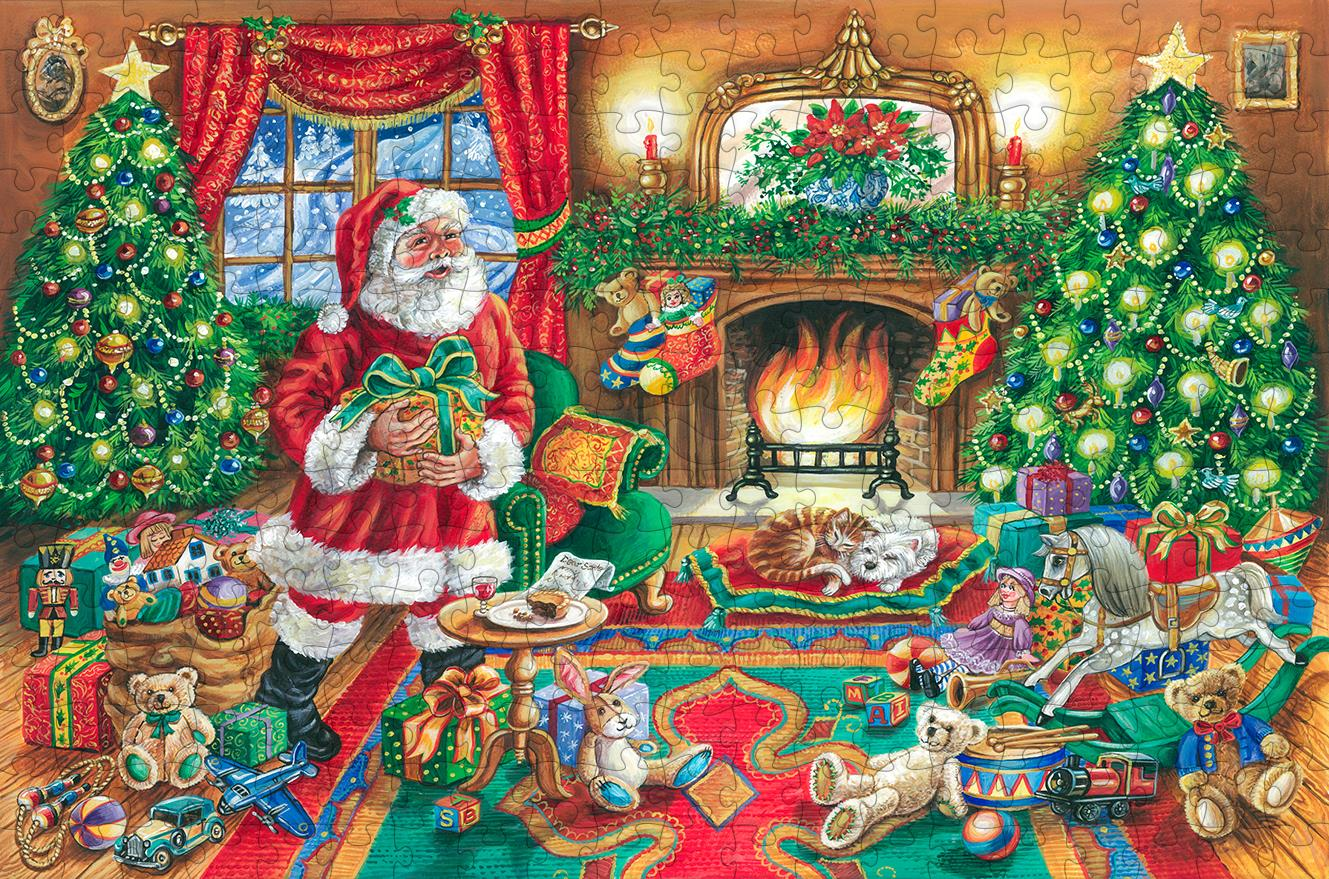A Delivery from Father Christmas 300 Piece Wooden Jigsaw Puzzle - All Jigsaw Puzzles
