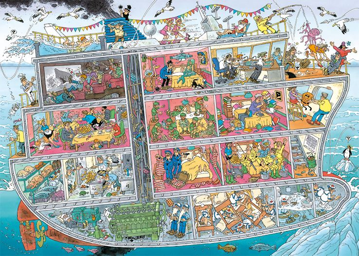 New 2020 - Jan van Haasteren's Cruise Ship 1000 Piece Jigsaw Puzzle - All Jigsaw Puzzles