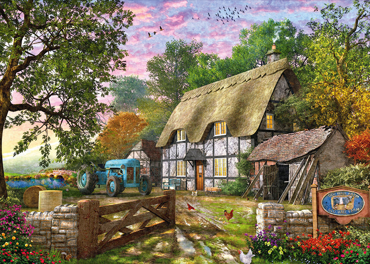 The Farmer's Cottage 1000 Piece Jigsaw Puzzle - All Jigsaw Puzzles