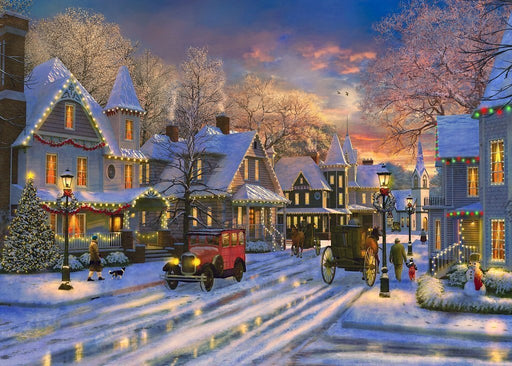 Small Town Christmas 1000 or 500-piece jigsaw puzzle - All Jigsaw Puzzles