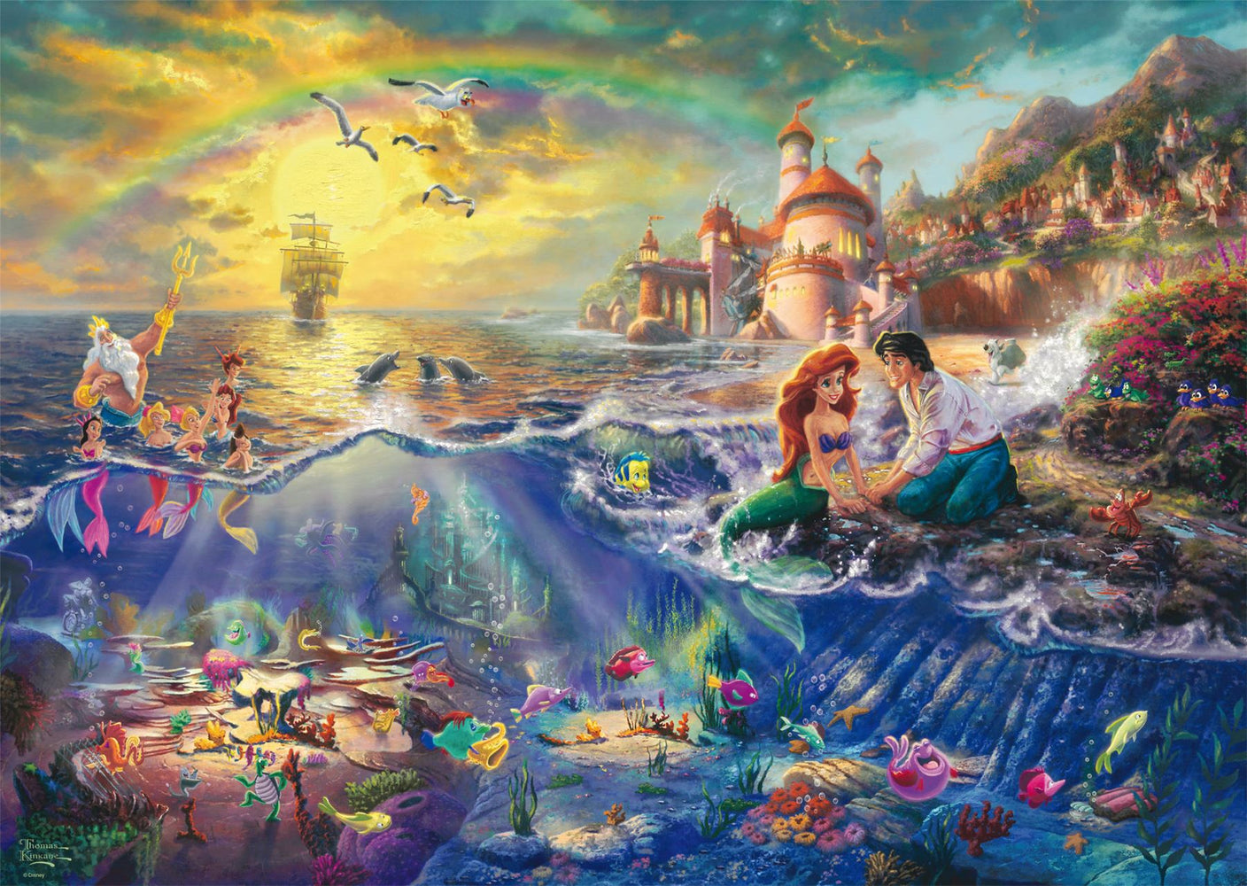 Thomas Kinkade - Disney The Little Mermaid 1000 Pieces - All Jigsaw Puzzles