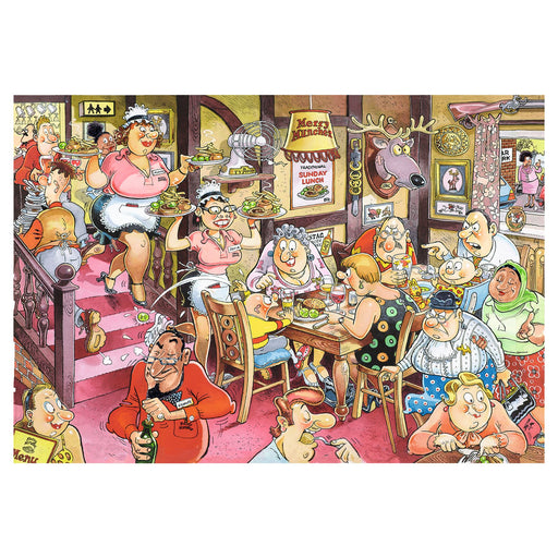 Wasgij Retro 5 Sunday Lunch! 1000 Piece Jigsaw Puzzle