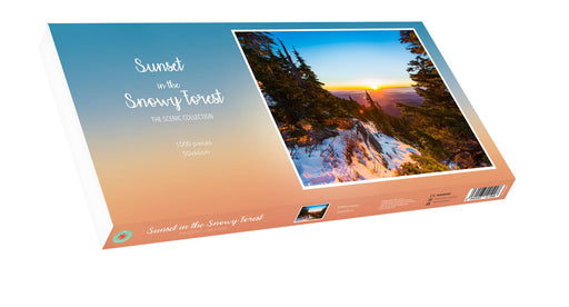 Sunset in the Snowy Forest 1000 Piece Jigsaw Puzzle.1