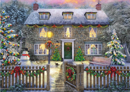 Falcon The Christmas Cottage 1000 Piece Jigsaw Puzzle