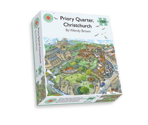 Priory Quarter, Christchurch - Wendy Brown 500 or 1000 Piece Jigsaw Puzzle