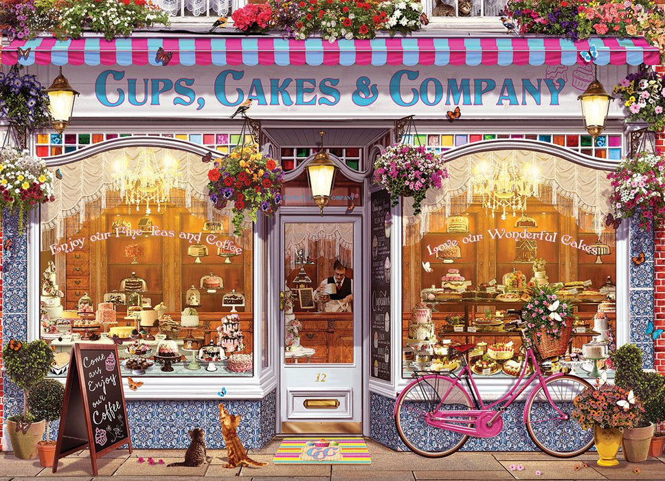 Cups Cakes & Company 1000 Piece Jigsaw Puzzle - All Jigsaw Puzzles