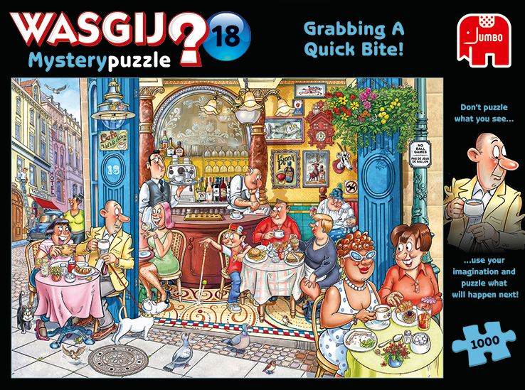 New 2020 -  Wasgij 'Mystery 18 Grabbing A Quick Bite 1000 Piece Jigsaw Puzzle - All Jigsaw Puzzles