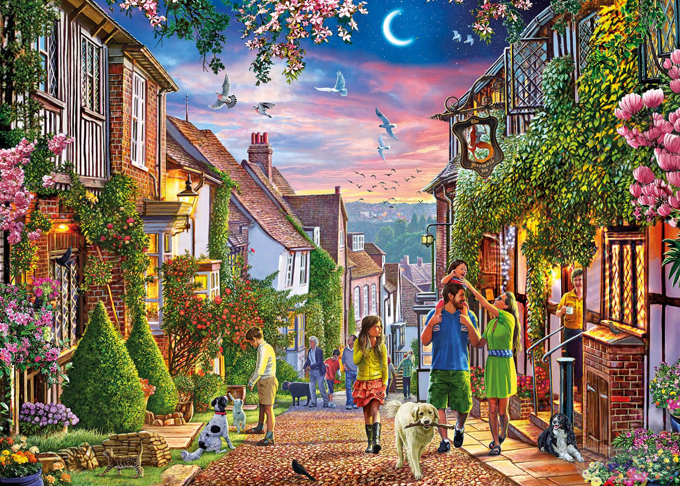 Mermaid Street Rye 500XL Piece Jigsaw Puzzle