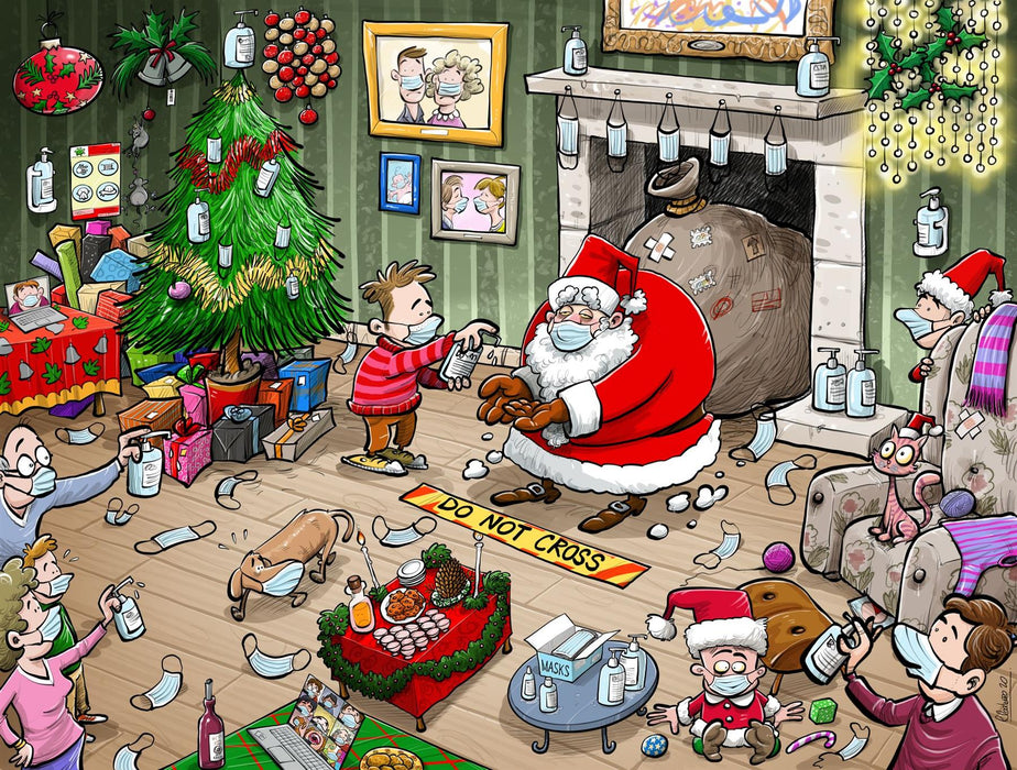 Chaos on Christmas Eve 1000  or 500 Piece Jigsaw Puzzle - Chaos no. 23