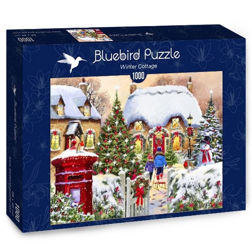 Winter Cottage 1000 Piece Jigsaw Puzzle box