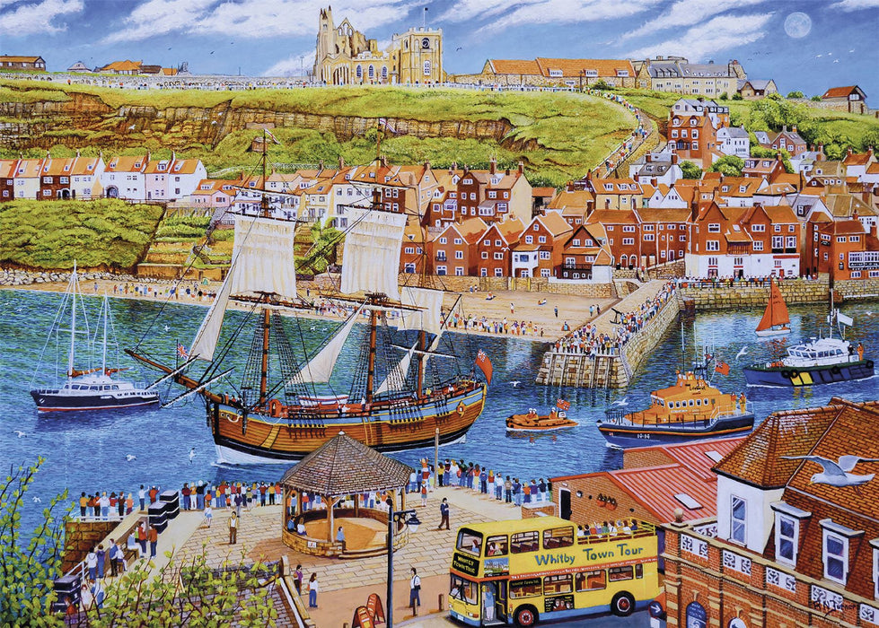 New 2020 Gibsons Endeavour, Whitby 1000 piece Jigsaw Puzzle - All Jigsaw Puzzles