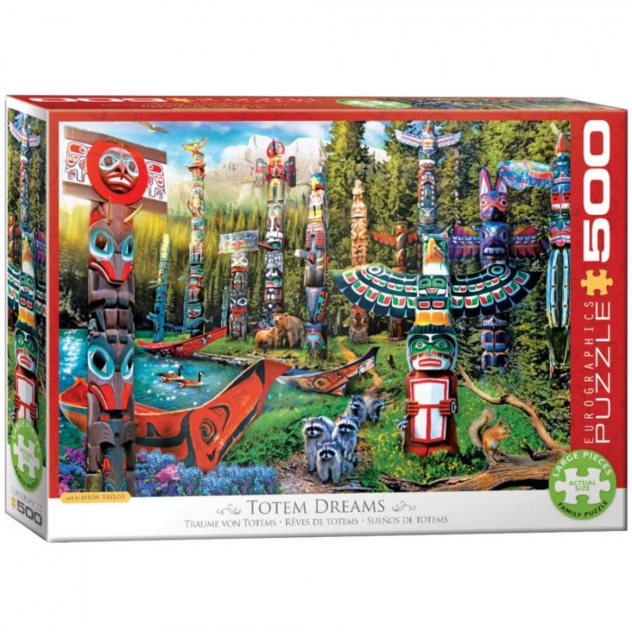 Canadian Totem Dreams 500 Large Piece Jigsaw Puzzle