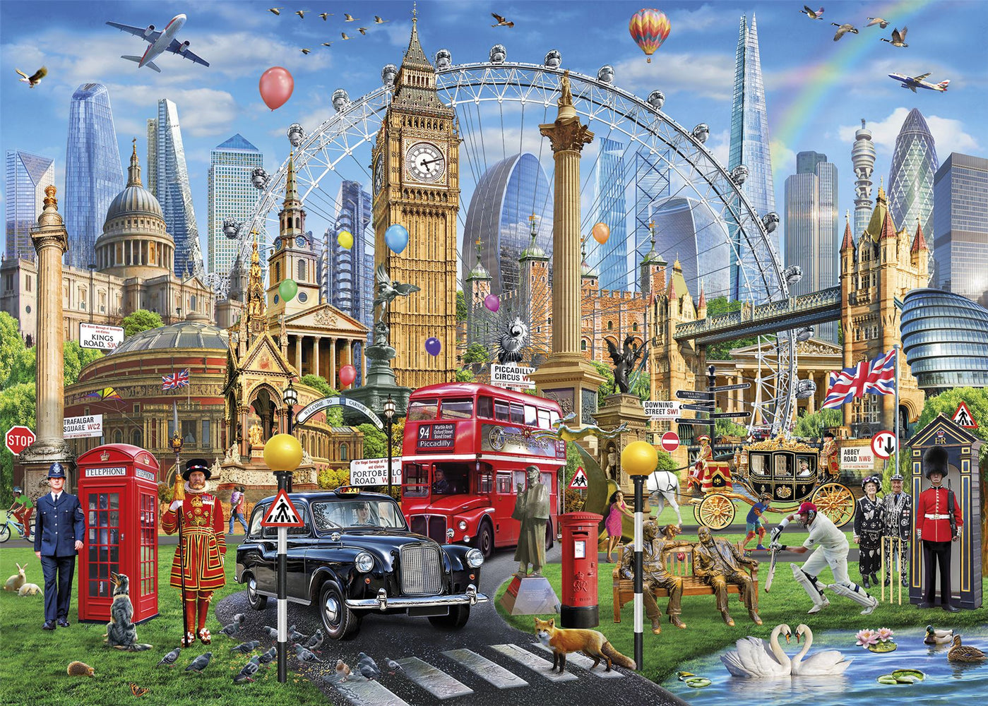 New 2020 Gibsons London Calling 1000 piece Jigsaw Puzzle - All Jigsaw Puzzles