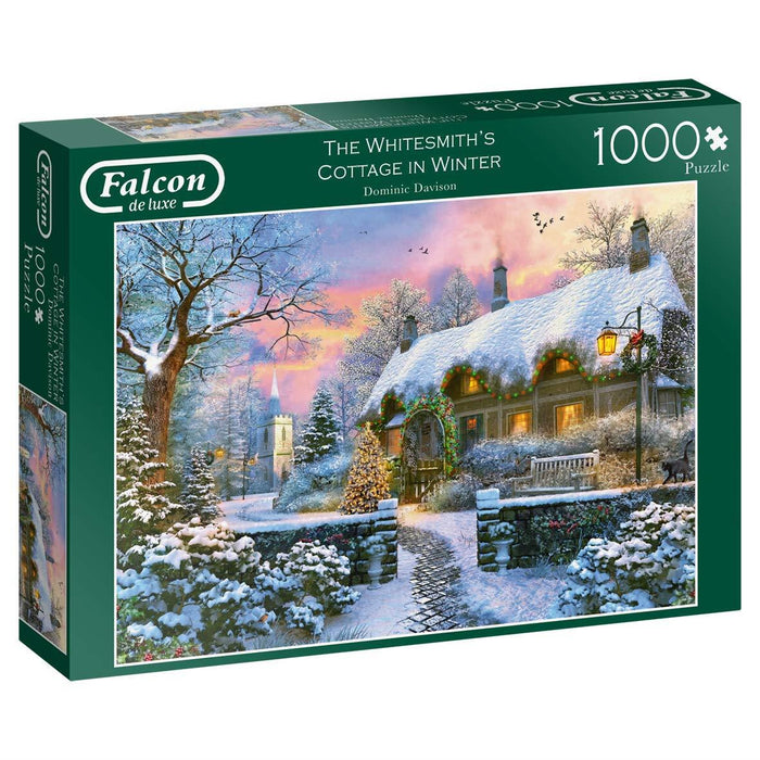 Falcon de Luxe - The Whitesmith's Cottage in Winter 1000 piece jigsaw puzzle - All Jigsaw Puzzles