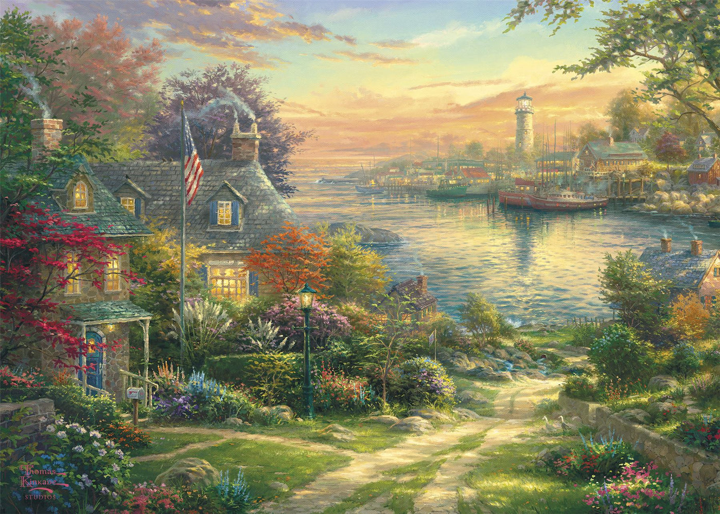 New 2020 Gibsons New England Harbour 1000 piece Jigsaw Puzzle - All Jigsaw Puzzles