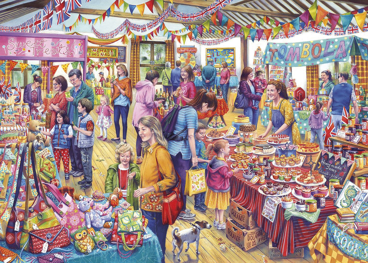 New 2020 Gibsons Village Tombola  500XL piece Jigsaw Puzzle - All Jigsaw Puzzles