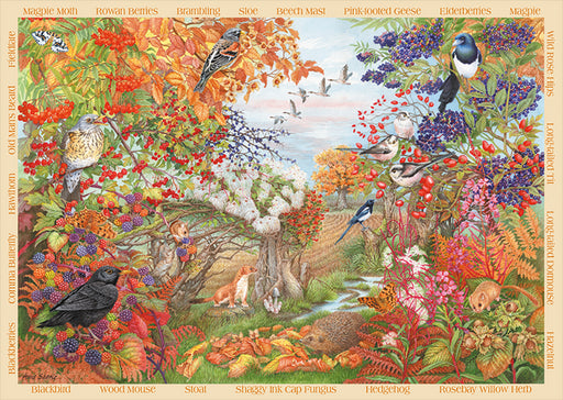 Autumn Hedgerow 500 Piece Jigsaw Puzzle - All Jigsaw Puzzles