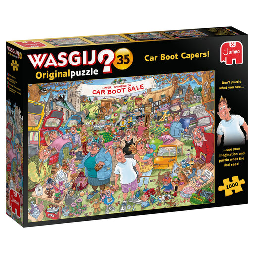 Wasgij Original 35 Car Boot Capers 1000 Piece Jigsaw Puzzle box