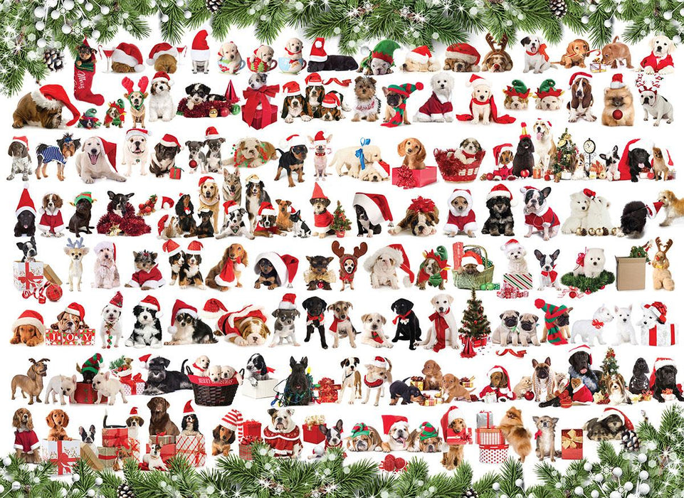 Holiday Dogs 1000 Piece Jigsaw Puzzle