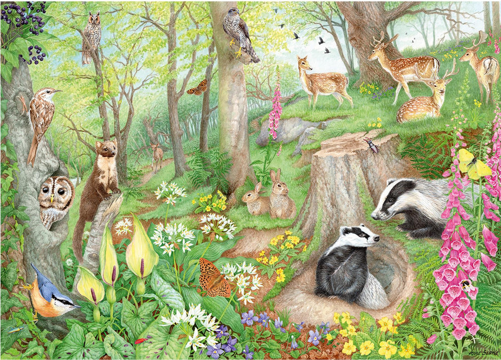 Falcon de luxe Woodland Wildlife 1000 Piece Jigsaw Puzzle