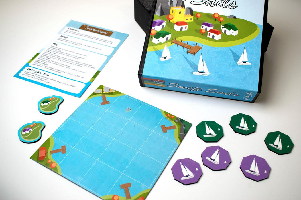 Swift Sails Board Game by R.W.Butler Games - All Jigsaw Puzzles