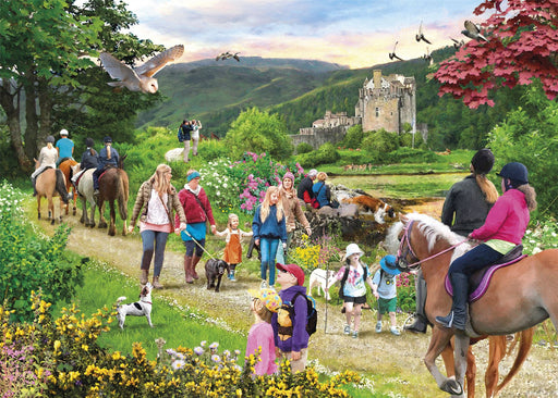 New 2020 Gibsons Highland Hike 1000 piece jigsaw puzzle - All Jigsaw Puzzles