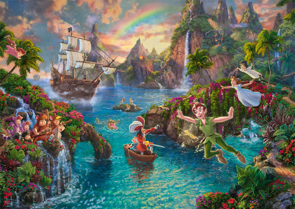 Thomas Kinkade - Peter Pan 1000 Pieces Jigsaw Puzzle - All Jigsaw Puzzles