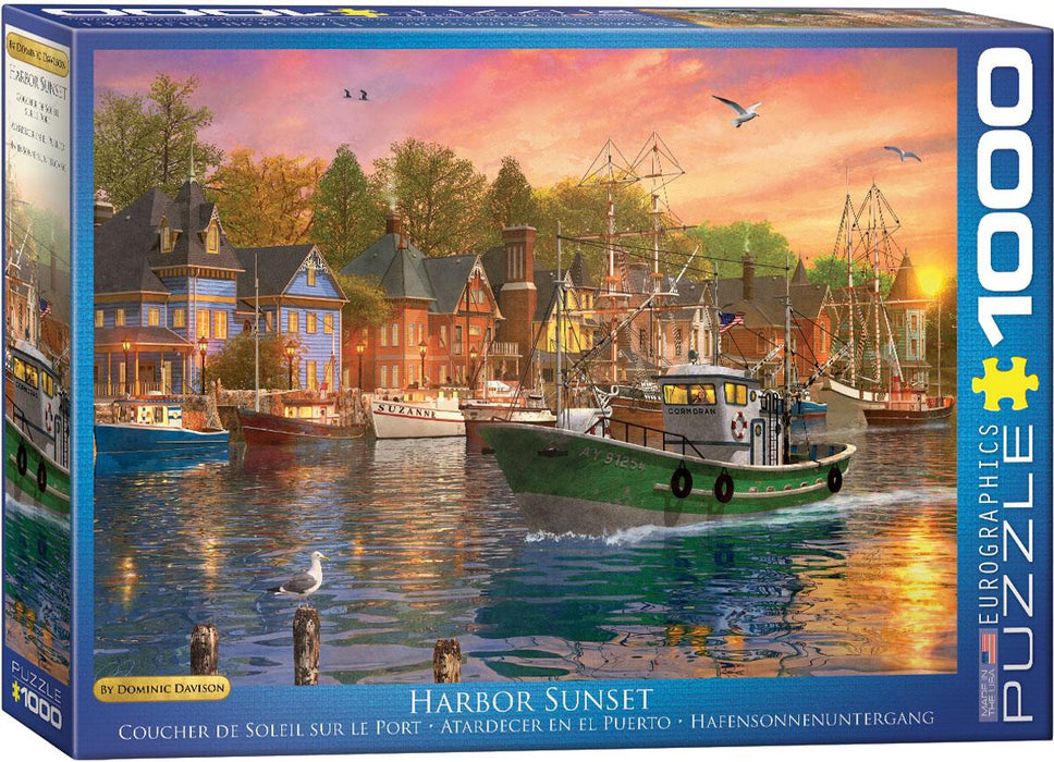 Harbor Sunset - Dominic Davison 1000 Piece Jigsaw Puzzle - All Jigsaw Puzzles