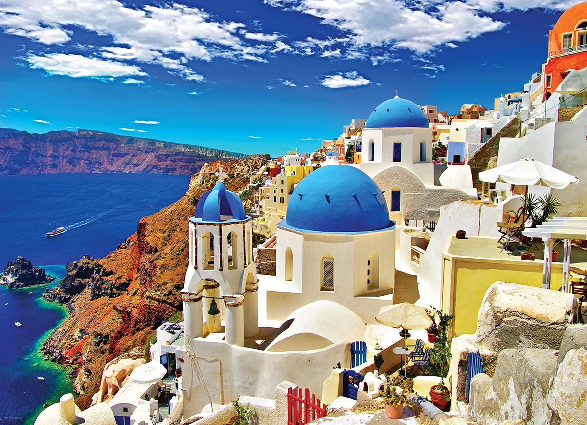 Oia Santorini Greece 1000 Piece Jigsaw Puzzle