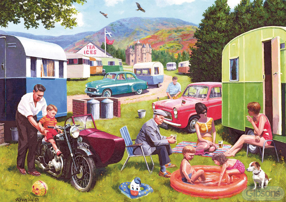 Caravan Outings 2x500 Piece Jigsaw Puzzle