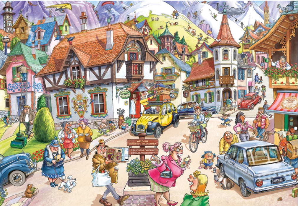 Wasgij Mystery 20 Mountain Mayhem! 1000 Piece Jigsaw Puzzle