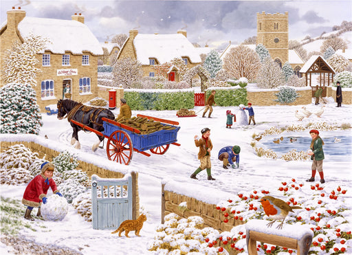 Sarah Adams Winter Village 1000 piece Jigsaw Puzzle - All Jigsaw Puzzles