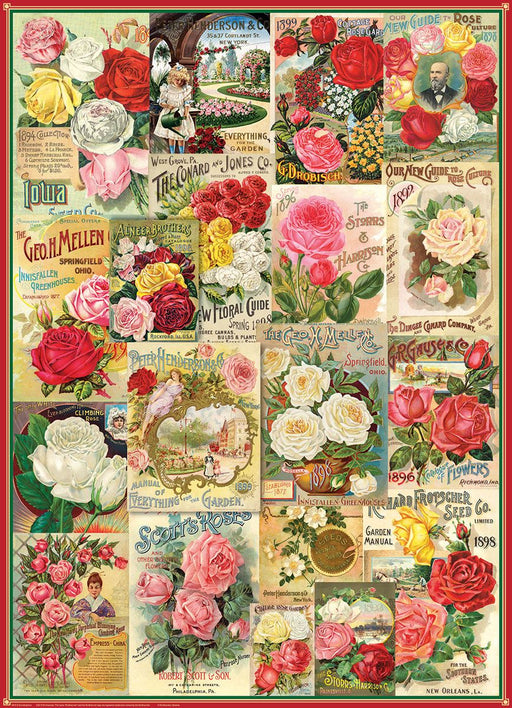 Rose Seed Catalog Covers 1000 Piece Jigsaw Puzzle