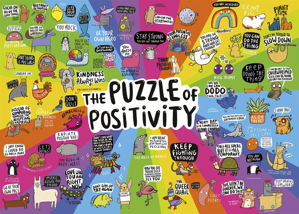 Puzzle of Positivity 1000 Piece Jigsaw Puzzle