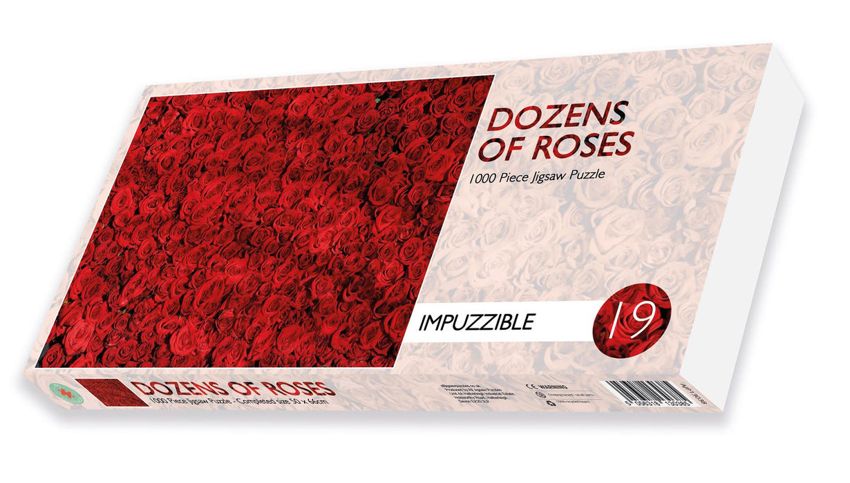 Dozens of Roses - Impuzzible No. 19 - 1000 Piece Jigsaw Puzzle - All Jigsaw Puzzles