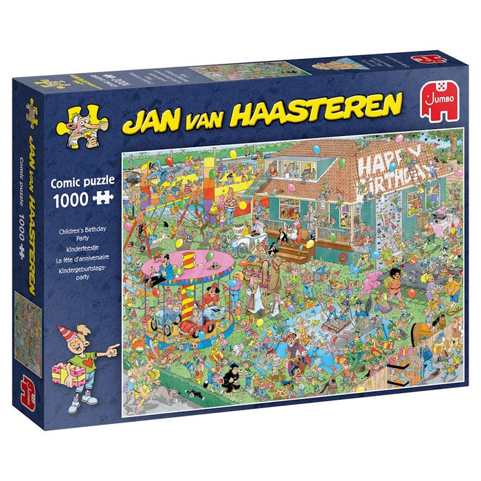 Children's Birthday Party - Jan Van Haasteren 1000 Piece Jigsaw Puzzle box 1